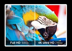 4K tv image