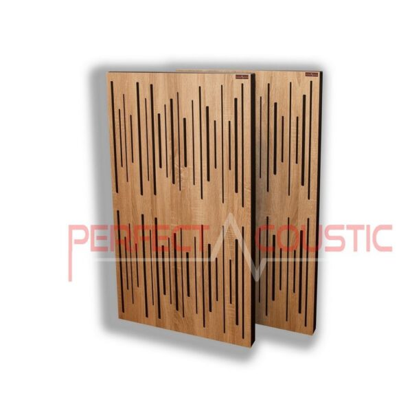 Acoustic panel with diffuser light oak (2)