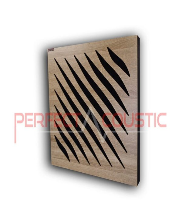 Acoustic panel with diffuser patterns (2)