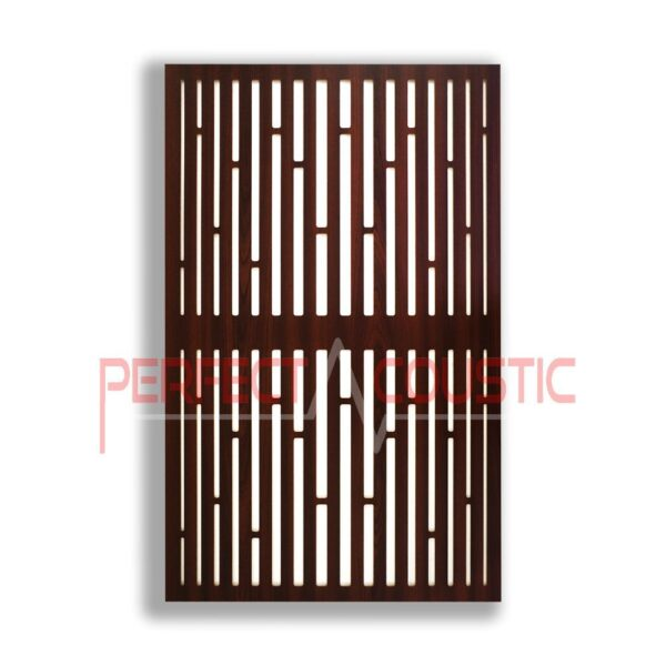 Acoustic panel with diffuser patterns (4)
