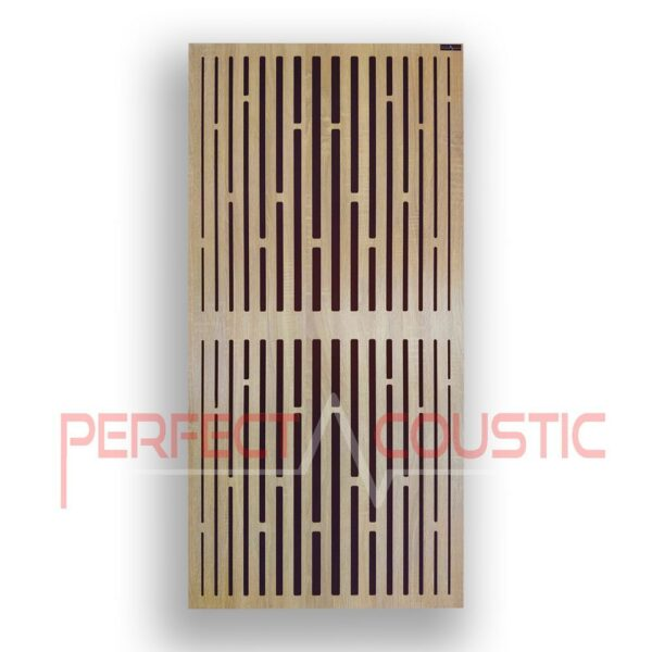 Acoustic panel with diffuser patterns in lattice