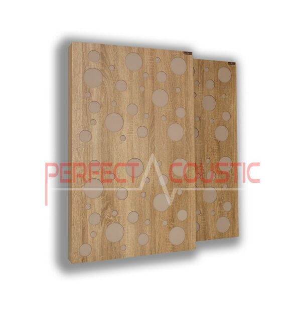 Acoustic panel with diffuser type- color (2)