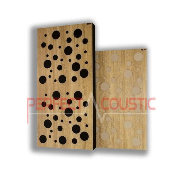 Acoustic panel with diffuser type- color (4)
