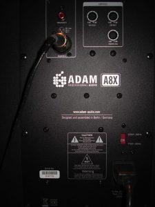 Adam A8X speakers test