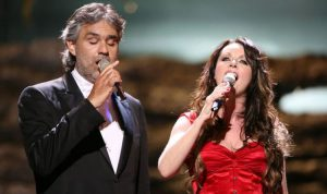 Andrea Bocelli and Sarah Brightmann