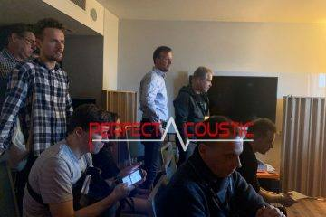 Core Audio hifi show, presentation of acoustic panels
