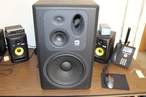 JBL LSR6332L studio monitors
