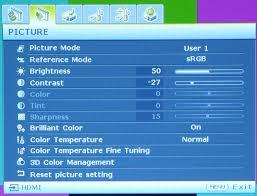 MH530-settings menu