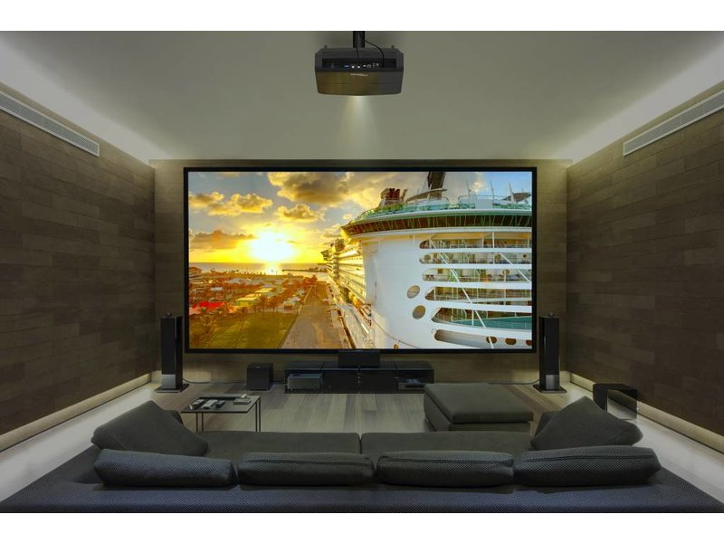 UHZ65LV laser projector in room