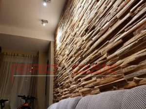 acoustic diffusers placed on the wall in the cinema room (3)