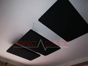 acoustic panel placed on the ceiling of the cinema room (2)