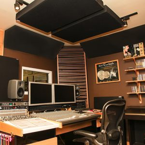 acoustic panels in a studio