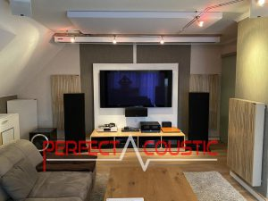 acoustic panels placed in a cinema room