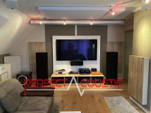 acoustical panels in a cinemaroom
