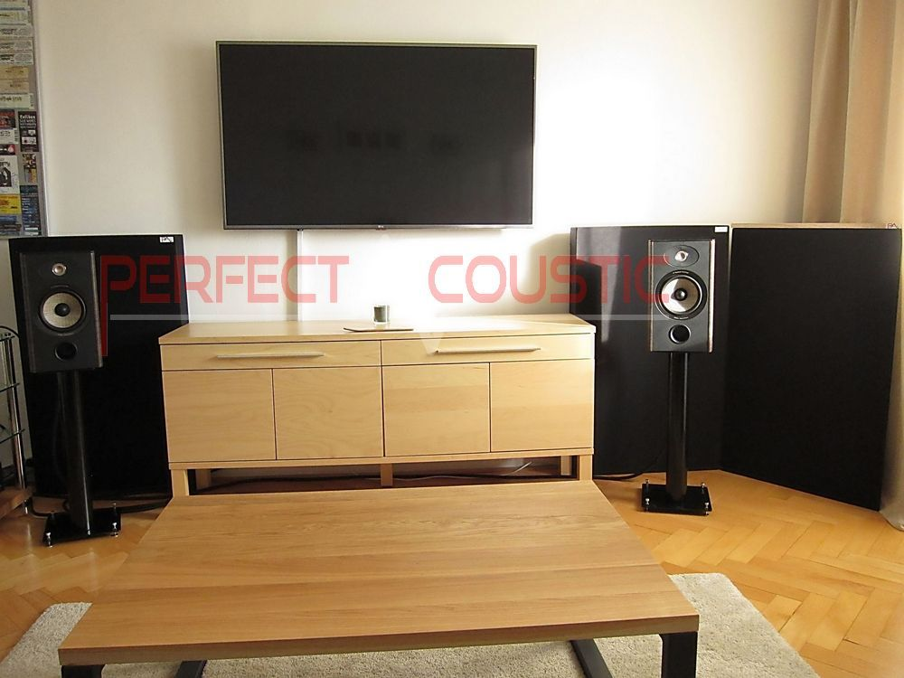 bass absorber placed in the cinema room