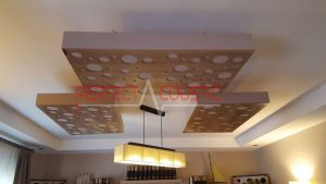 sound absorbing panel installation