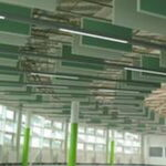 Acoustic ceiling tiles features-green