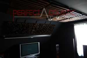 cinema room acoustics design with acoustic absorbers