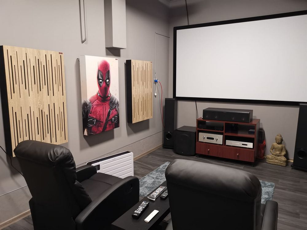 cinema room with acoustic panels