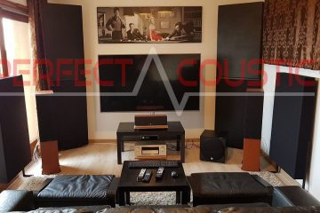-corner element bass trap placed in the cinema room