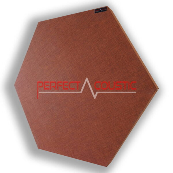 hexagonal acoustic panel-patterned-brown