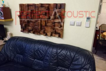 home theater acoustic design with rustic acoustic diffuser (2)