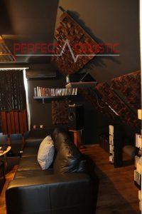 home theater room acoustics design with acoustic absorbers (2)