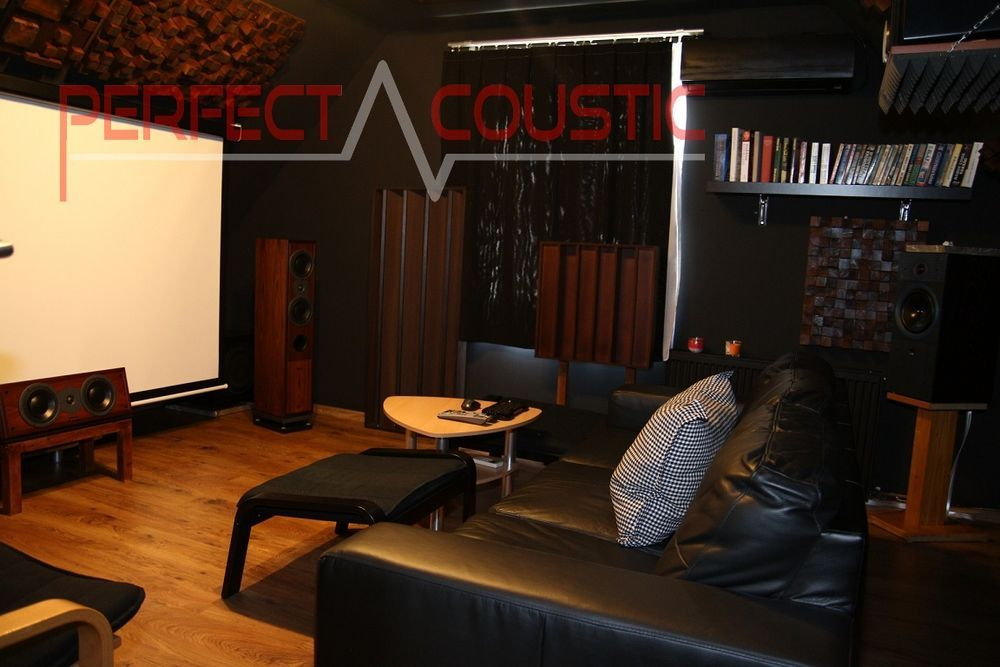 home theater room acoustics design with acoustic absorbers (3)