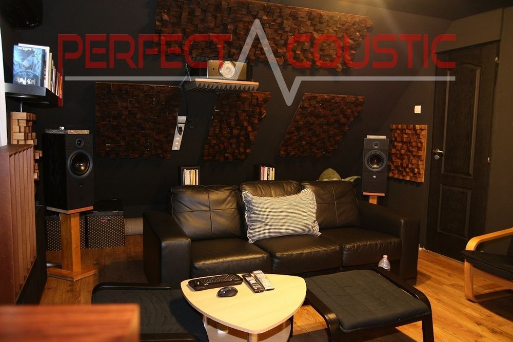 home theater room acoustics design with acoustic absorbers
