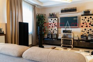 living room with acoustic panels-Acoustic measurement