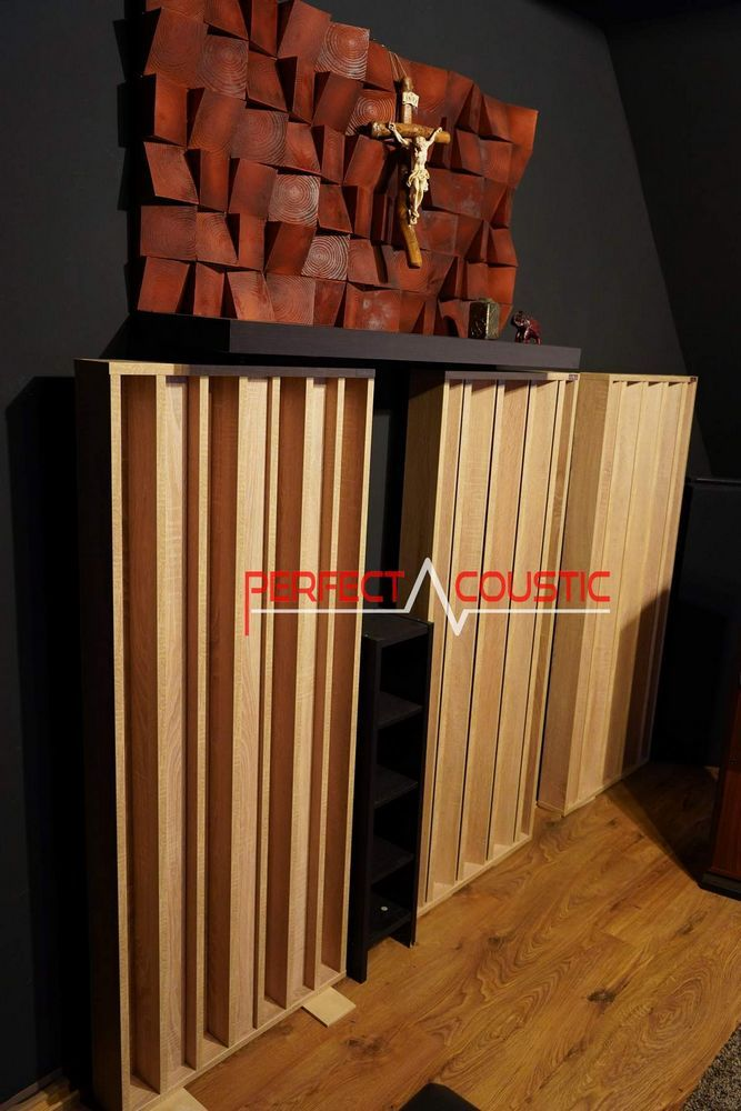 room acoustic design with acoustic diffuser